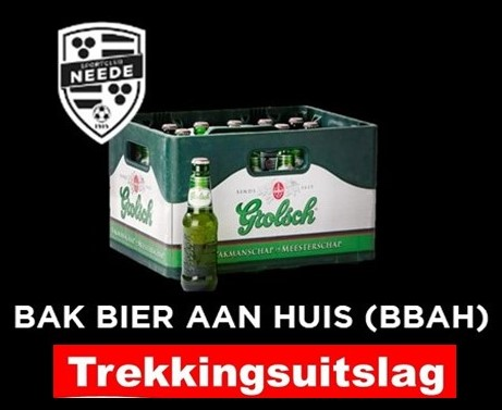 Uitslag loterij Bak Bier Aan Huis
