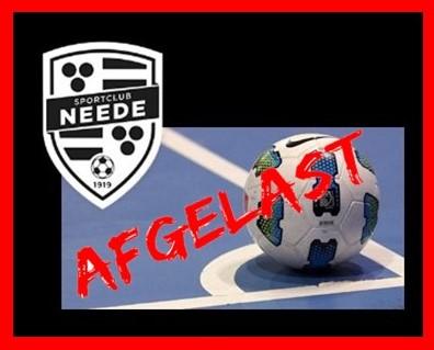 Zaalvoetbal Jeugd! AFGELAST!